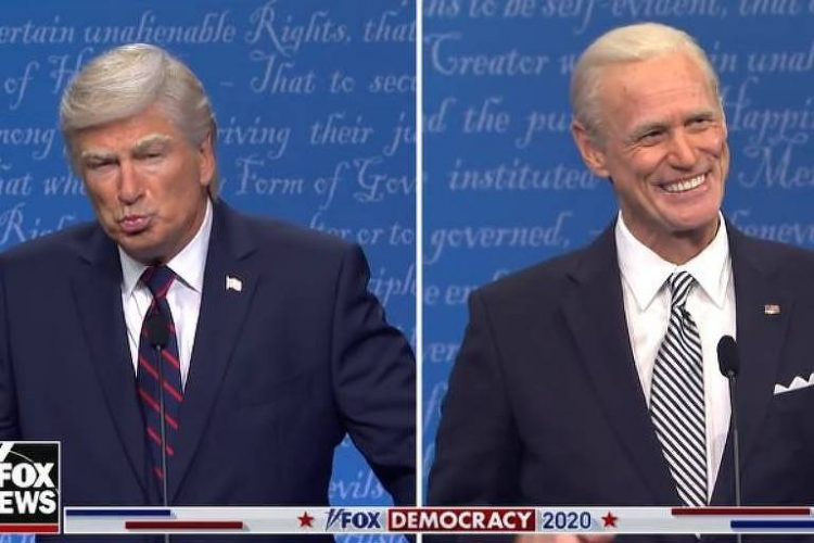 Alec Baldwin e Jim Carrey imitam Trump e Biden no Saturday Night Live - Reprodução